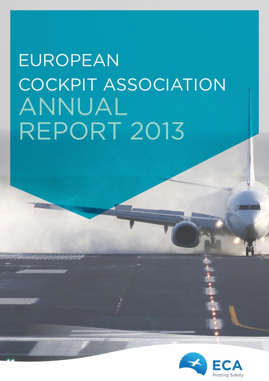 European Cockpit Association Eca: ECA Annual Report 2013 By European Cockpit Association ECA
