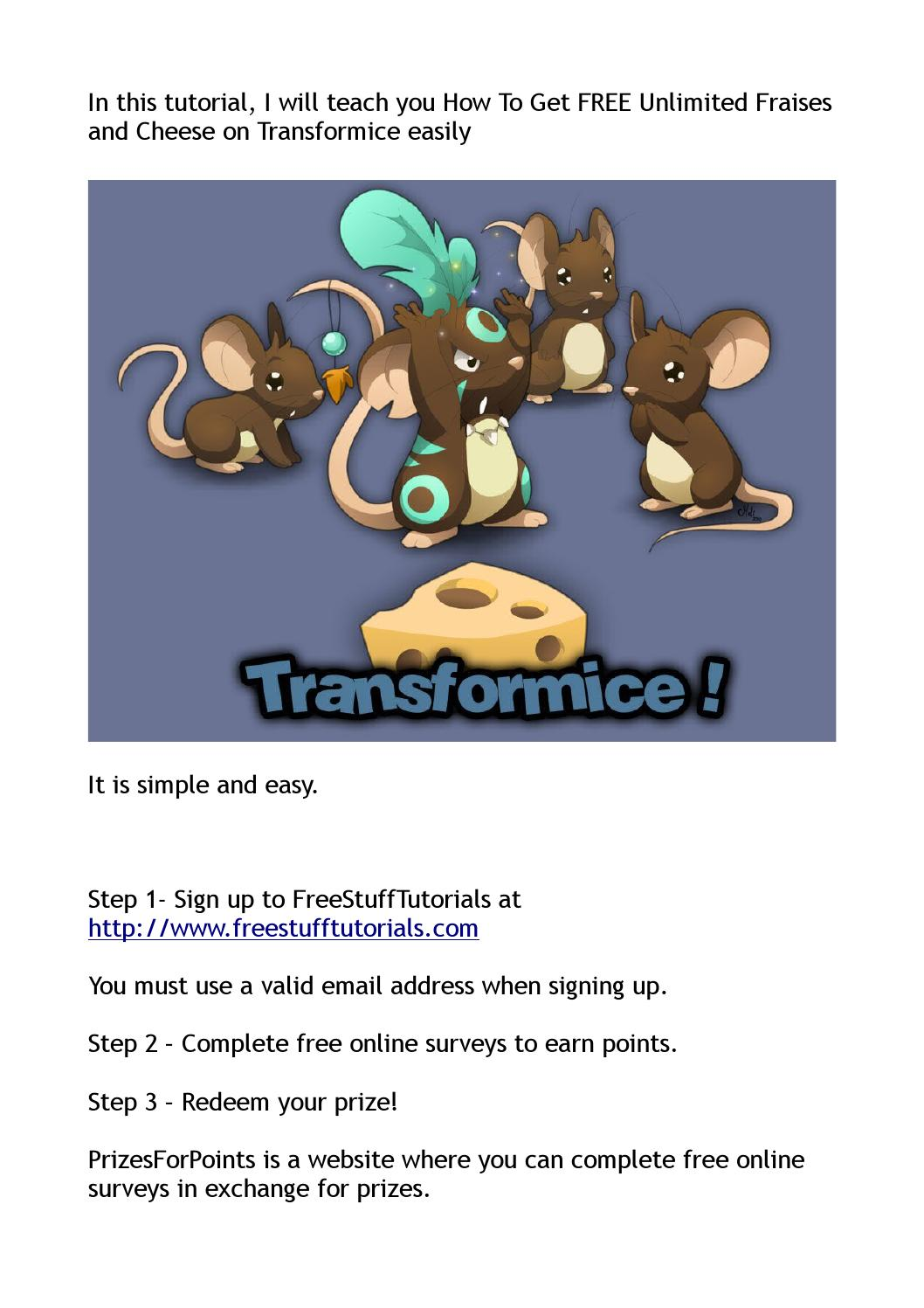 How To Get FREE Unlimited Fraises and Cheese on Transformice