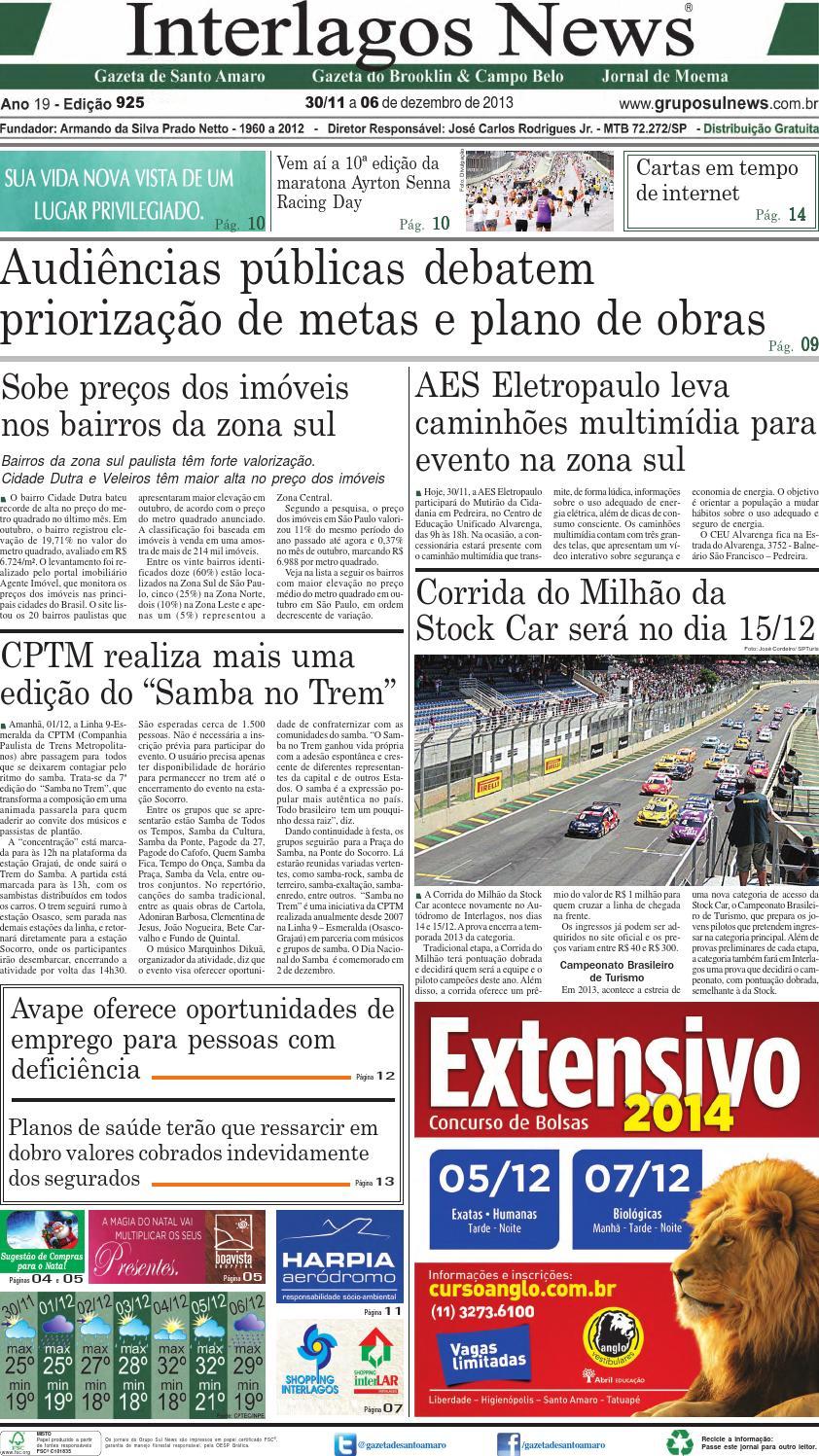 78c696ad4 Edição 925 - 30 de Novembro a 6 de Dezembro de 2013 by Grupo Sul News -  issuu