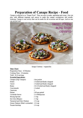 Preparation of canape recipe by magickartindia issuu preparation of canape recipe food canape is referred to as x20acx153finger foodx20ac they are easy to make appealing and crispy forumfinder Images