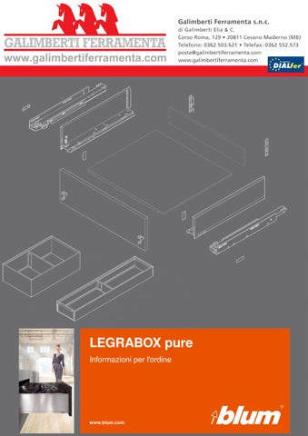 Blum Legrabox - Catalogo tecnico by Galimberti Ferramenta - issuu