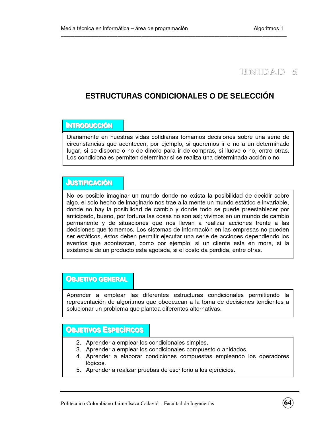 Estructuras De Condicion By Willian Yanza Issuu