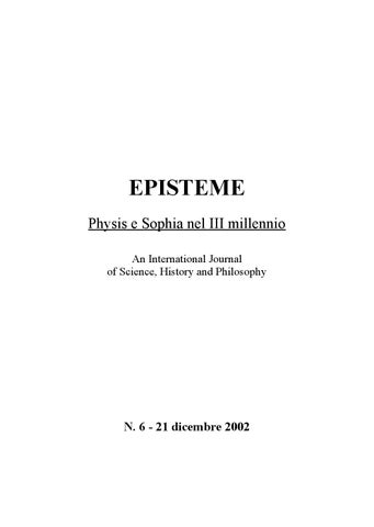 EPISTEME Physis e Sophia nel III millennio An International Journal of  Science 5805fd5dc03e