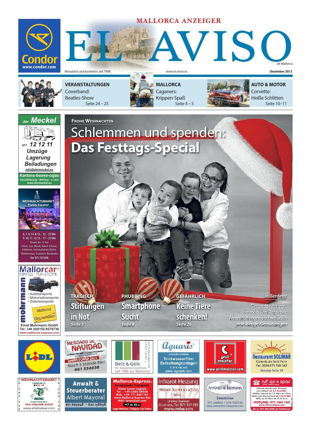 el aviso 12/2013 by pixelmeister - issuu - Faltbare Schlafcouch Taglichen Bedarf