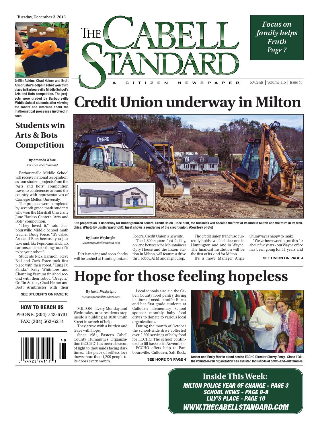The Cabell Standard, December 3, 2013 by PC Newspapers - issuu
