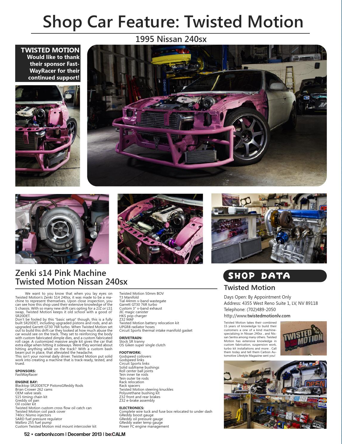 Carbon Automotive Lifestyle Magazine Issue 2 By Carbonmagazine Issuu 240sx Fuse Box Relocation