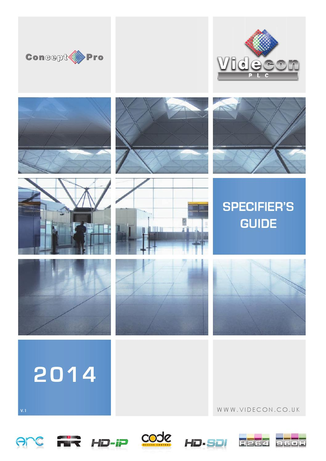 Videcon Specifiers Guide 2014 Preview By Plc Issuu Pelco Ccd Camera Wiring Diagram