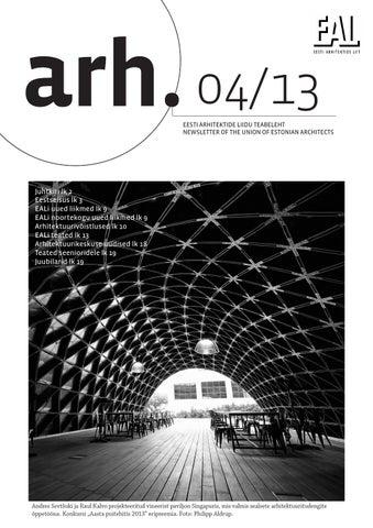 b3ca122c9ff Eesti Arhitektide Liidu Teataja 4/13 by Eesti Arhitektide Liit - issuu