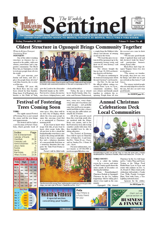 WS November 29, 2013 by Weekly Sentinel - issuu