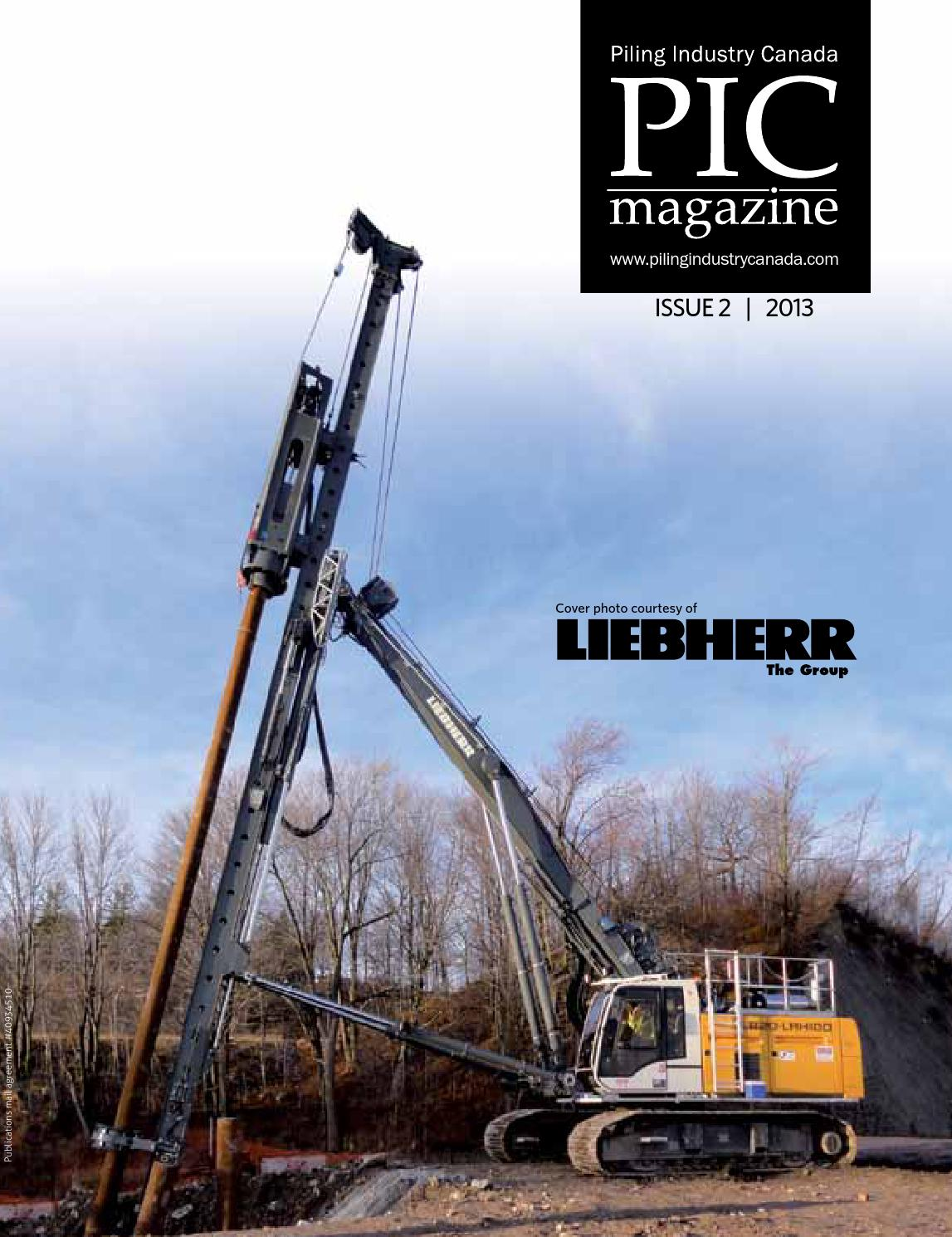 Piling Industry Canada Issue #2 2013 by DEL Communications