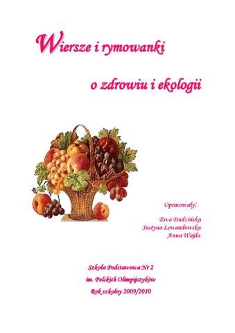 Wiersze I Rymowanki Ekologiczne By Ewa Dudzińska Issuu