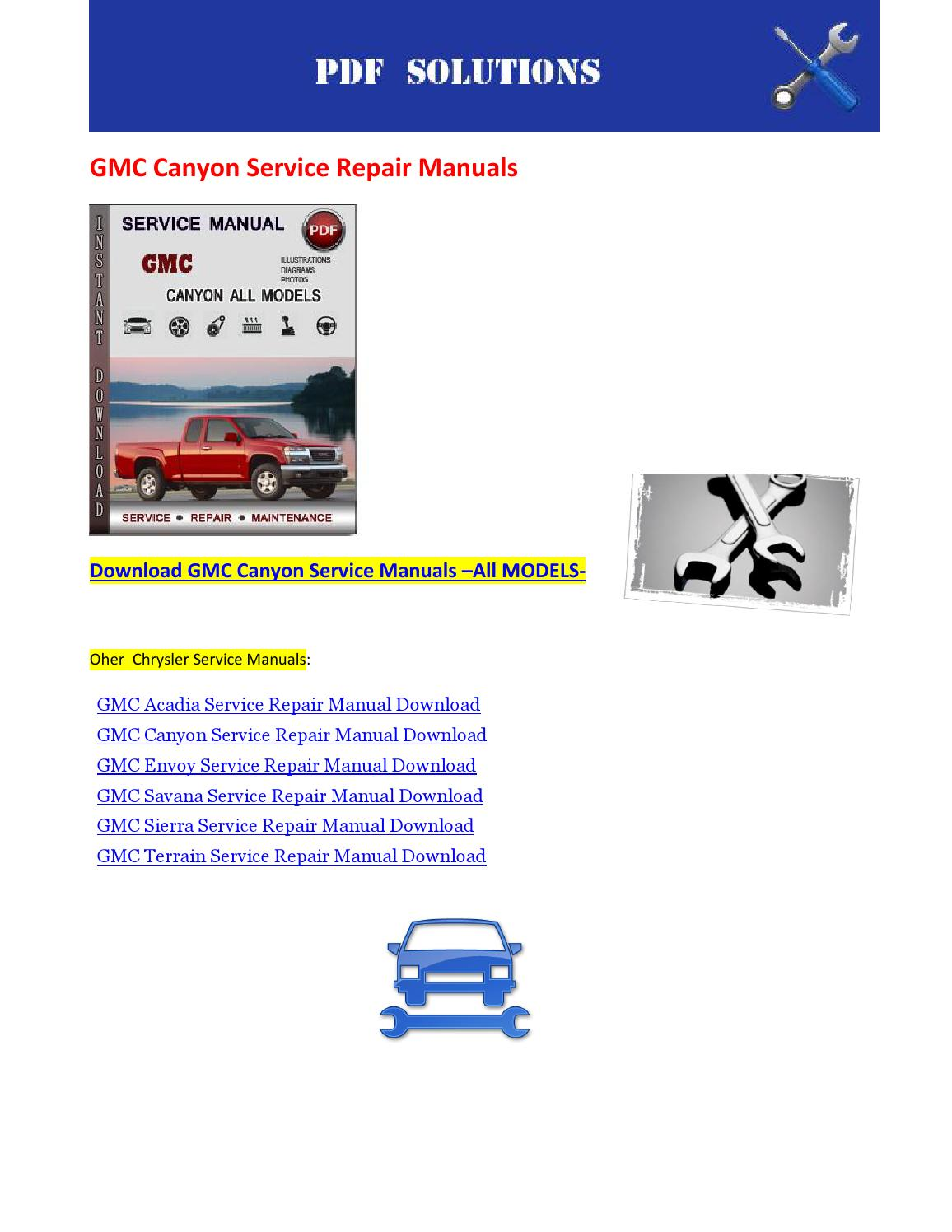 gmc canyon service repair manuals by nissanexpert issuu rh issuu com Buick Factory Service Manuals gmc envoy repair manual free download