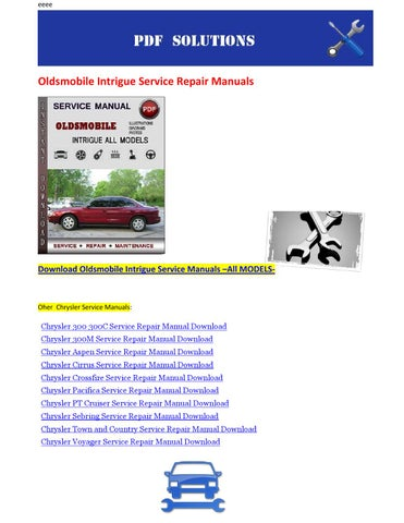 oldsmobile intrigue service repair manuals by nissanexpert issuu rh issuu com 1999 oldsmobile intrigue service manual oldsmobile intrigue owner's manual
