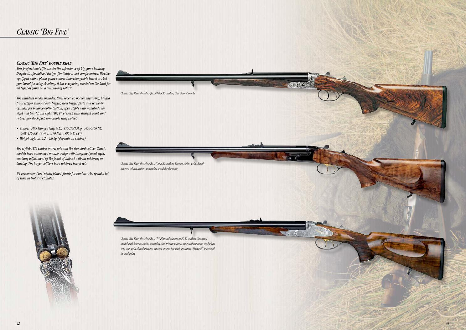 Krighoff hunting guns catalogue by Kuhada - issuu