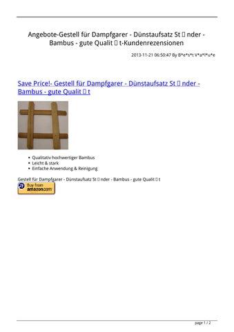 Angebote Gestell Fur Dampfgarer Dunstaufsatz Stander Bambus Gute