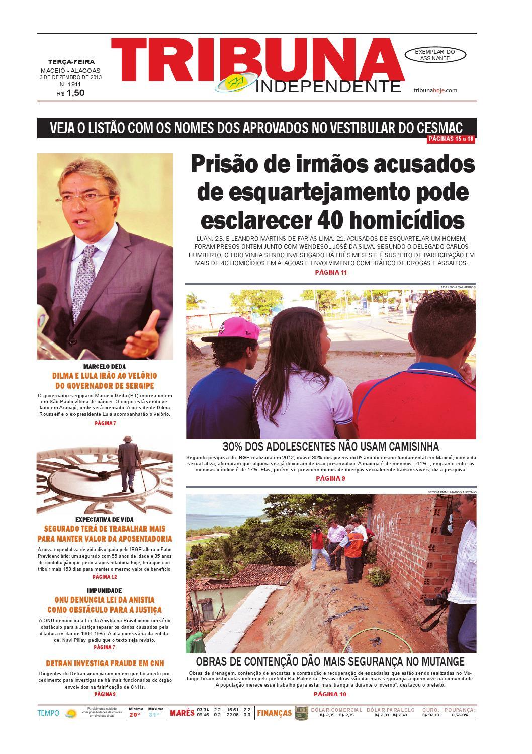 Edição número 1911 - 3 de dezembro de 2013 by Tribuna Hoje - issuu 43526d6f7139c