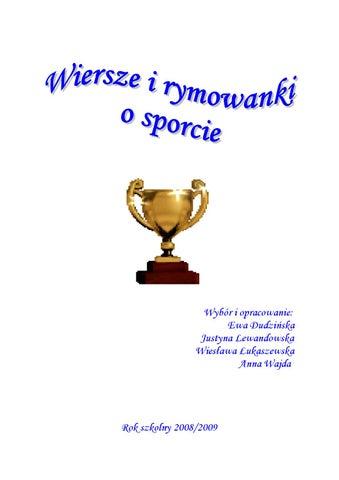 Wiersze I Rymowanki O Sporcie By Ewa Dudzińska Issuu
