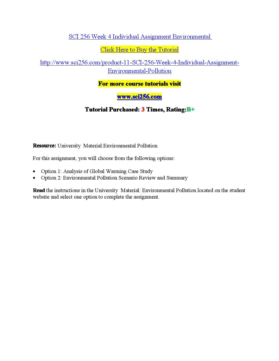 assignment on environmental pollution pdf
