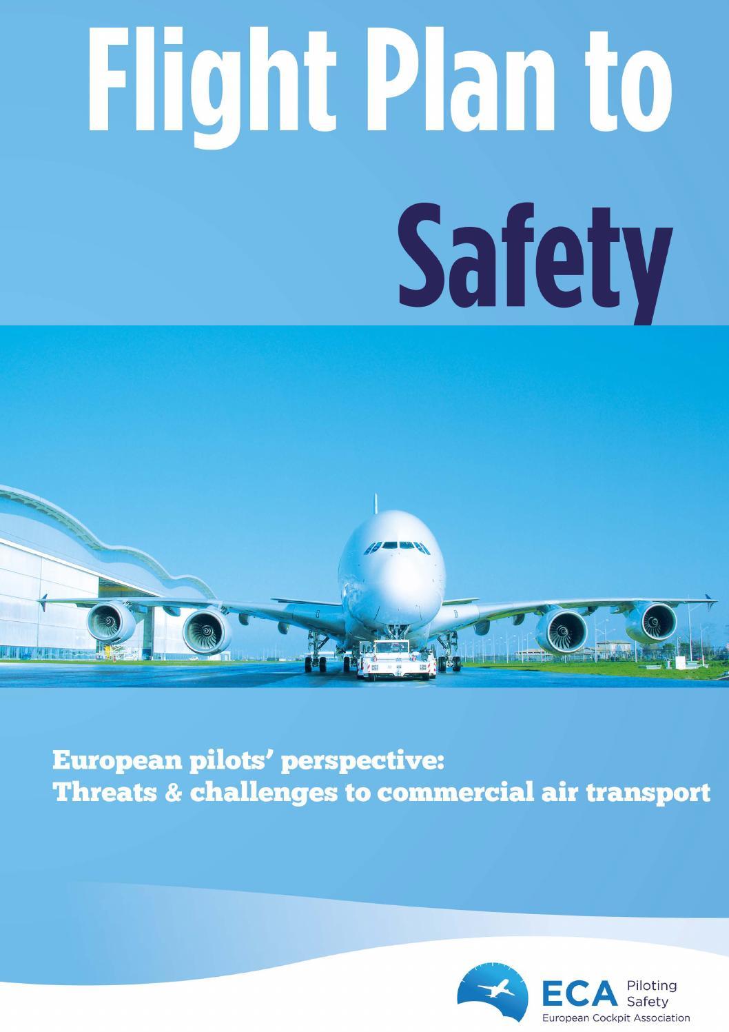 European Cockpit Association Eca: ECA Flight Plan To Safety By European Cockpit Association