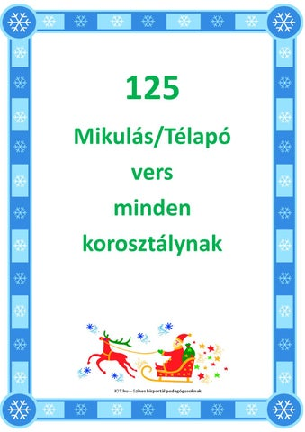 125 Mikulás-Télapó vers kicsiknek iskolásoknak felnőtteknek by IOT ... 1f053da74b