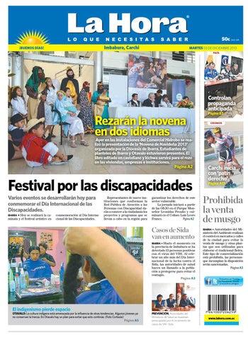 La Hora Imbabura 3 diciembre 2013 by Diario La Hora Ecuador - issuu a703cff0317