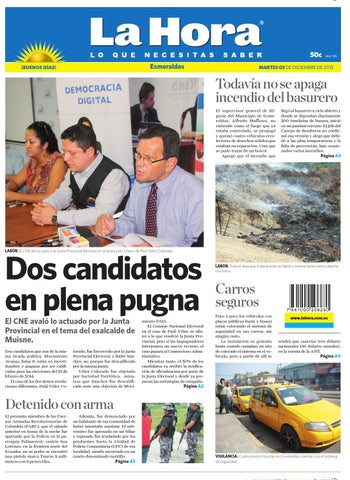 La Hora Esmeraldas 3 diciembre 2013 by Diario La Hora Ecuador - issuu 1bd8c7508f2