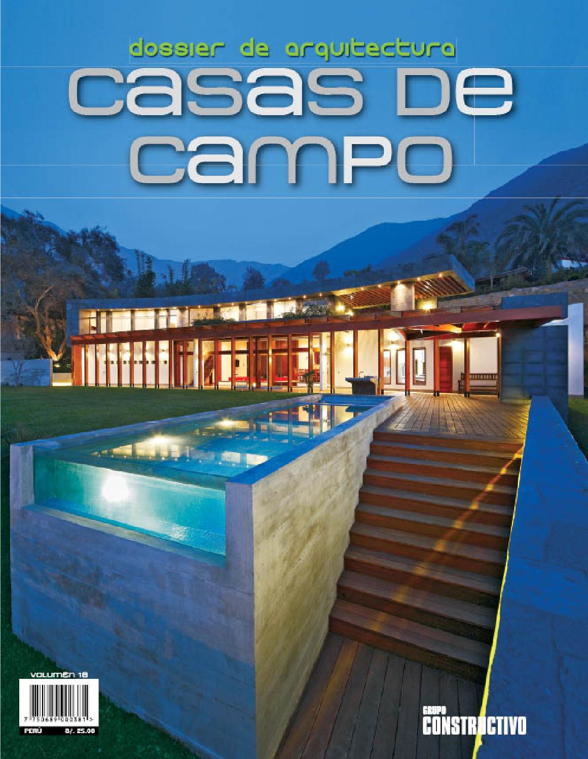 D18 casa de campo by pull creativo issuu for Fotos de casas de campo con piscina