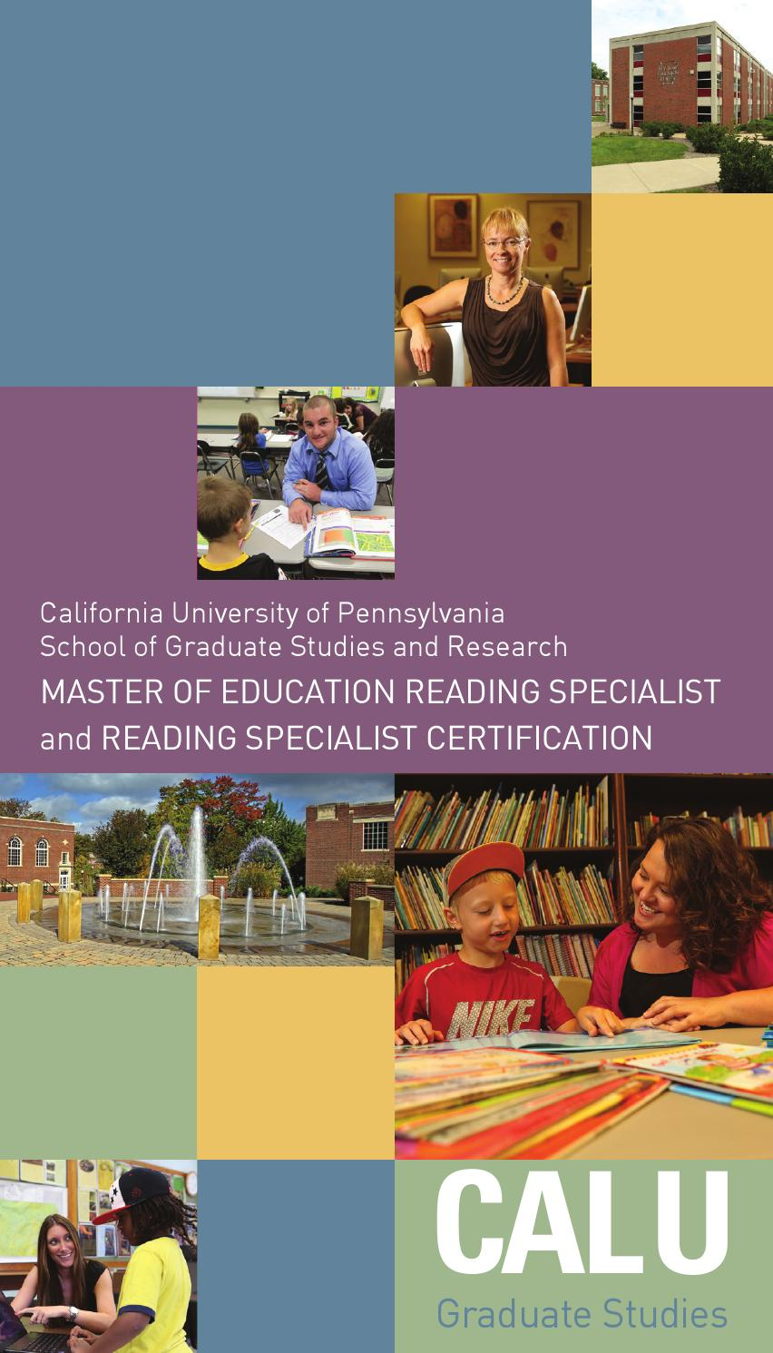 Master of education reading specialist and reading specialist master of education reading specialist and reading specialist certification by california university of pennsylvania issuu xflitez Images