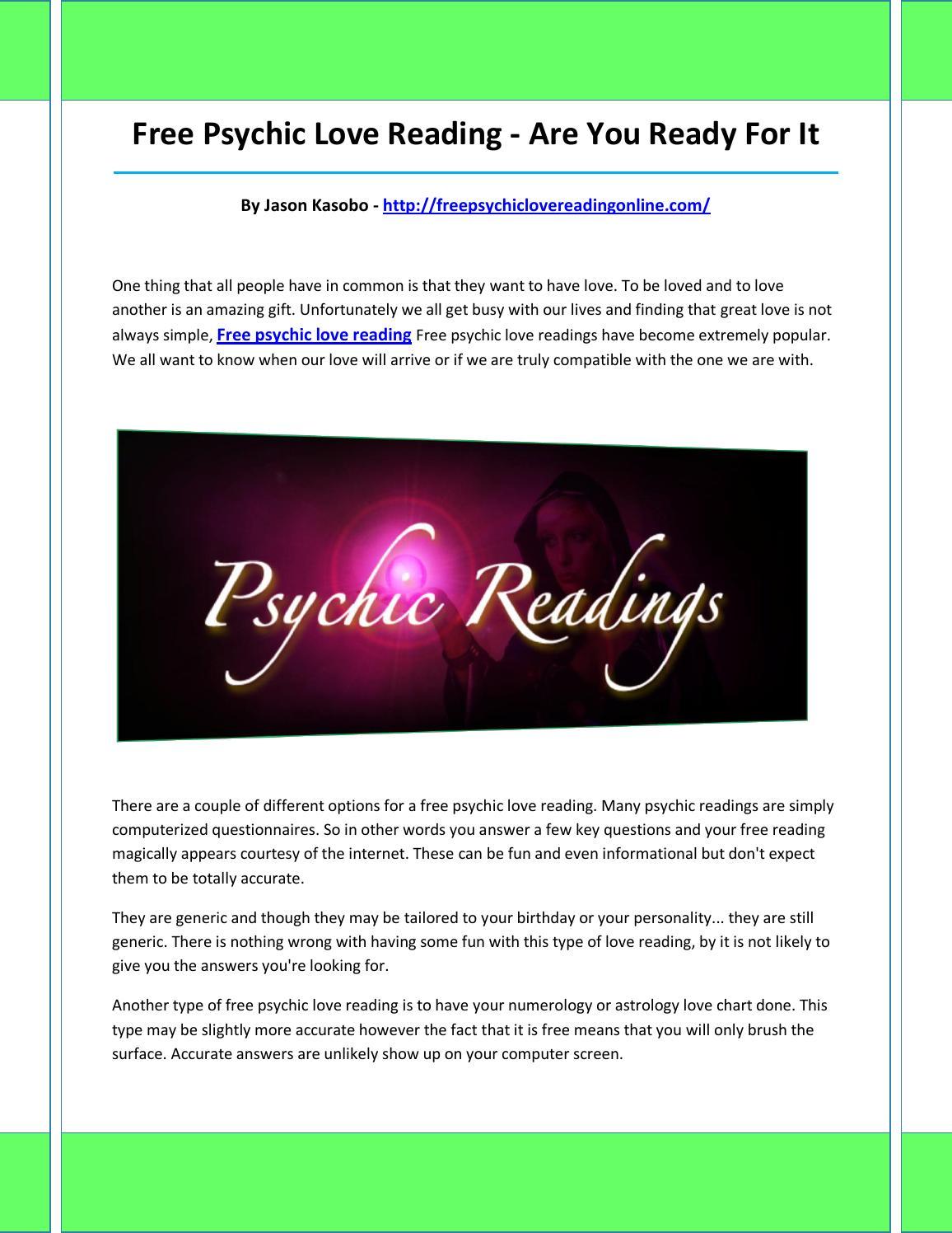 Free psychic love reading by vasoreorej - issuu