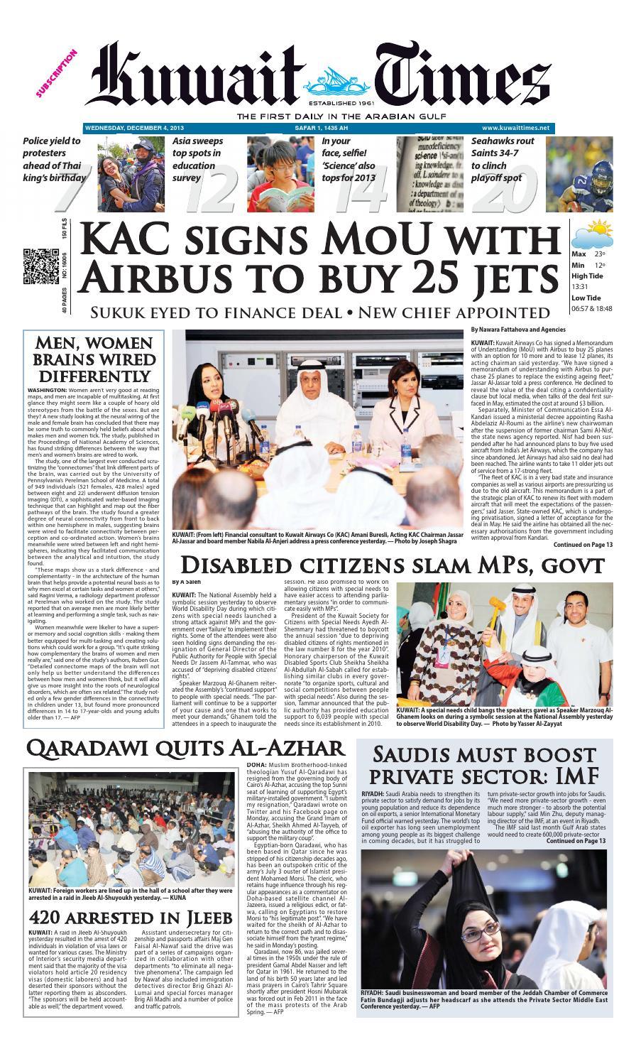 4th Dec By Kuwait Times Issuu