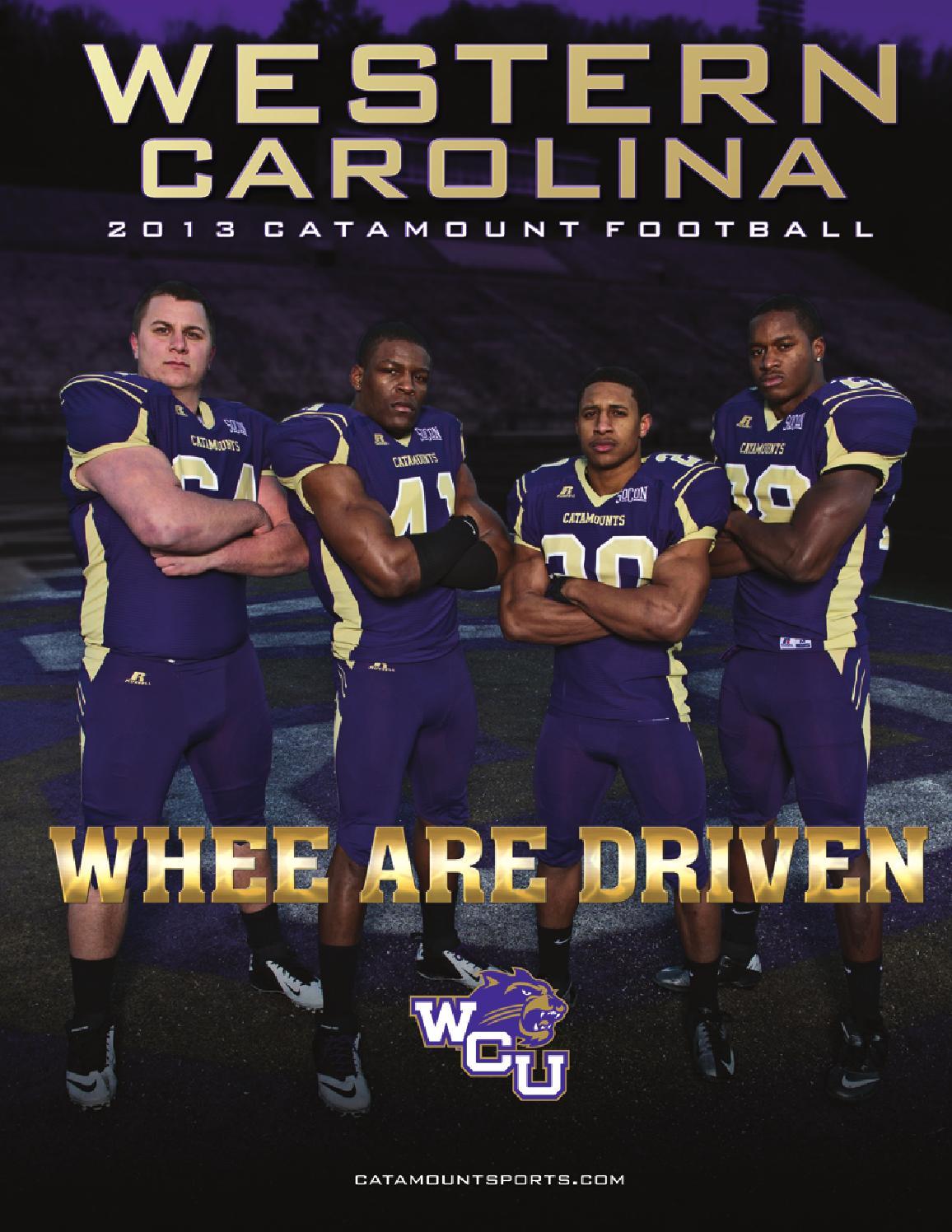f5df22739 2013 Western Carolina Football Yearbook by Western Carolina University  Athletics - issuu
