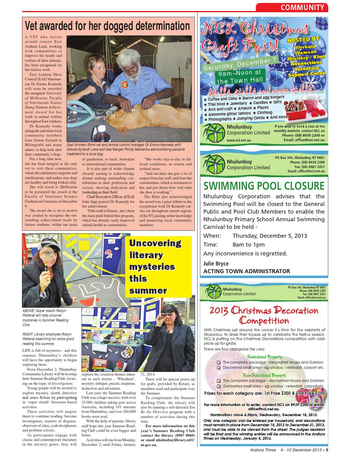 Arafura times 2013 12 04 by Regional and Remote Newspapers