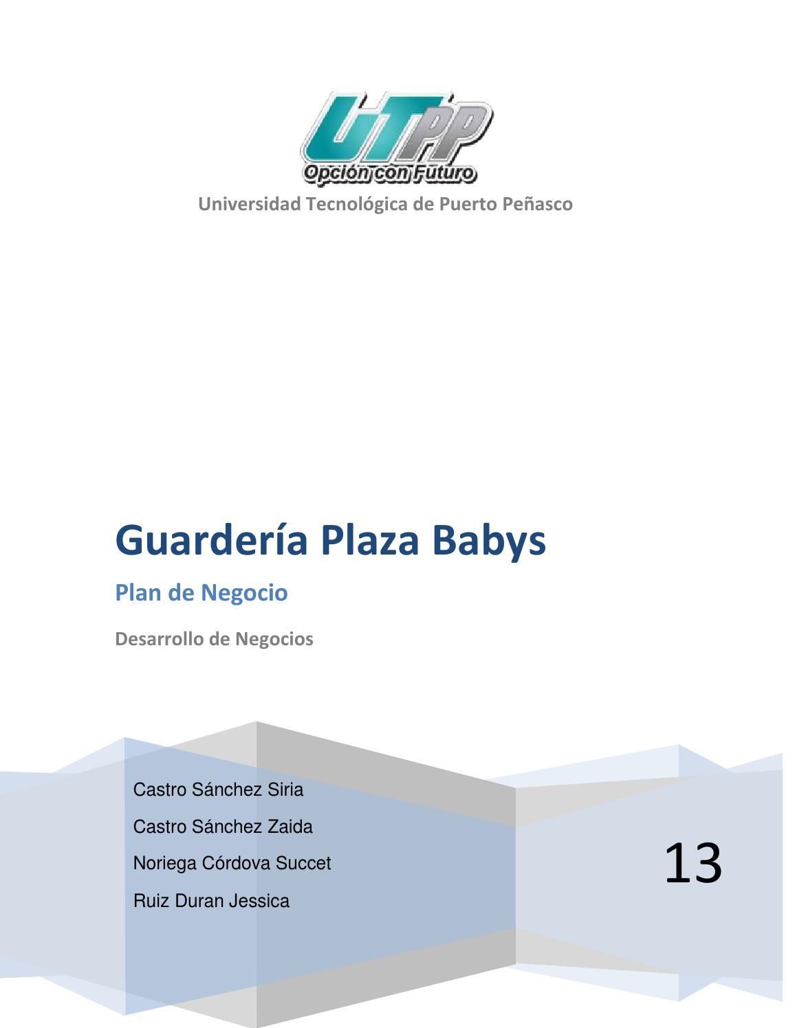 Plan de negocio guarderia by Adolfo Espinoza - issuu