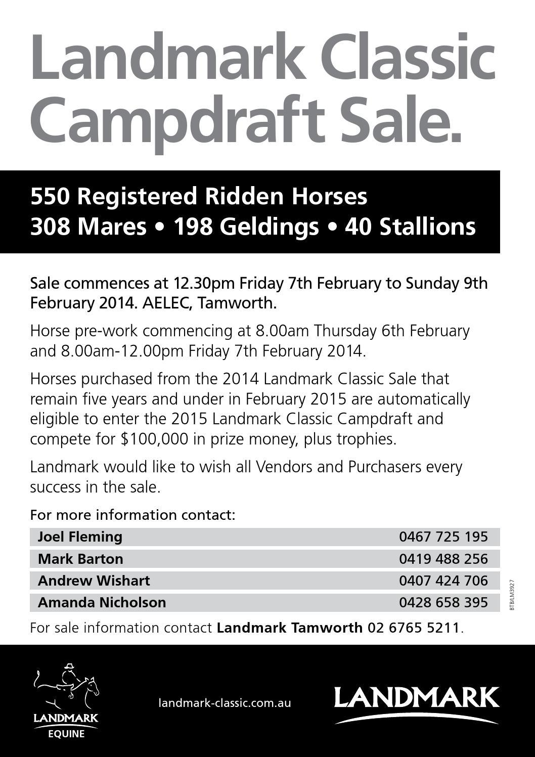 2014 Landmark Classic Campdraft Sale Catalogue By Teresa Herbert Issuu Delta Kite Diagram Hq Maestro Ii Hawk