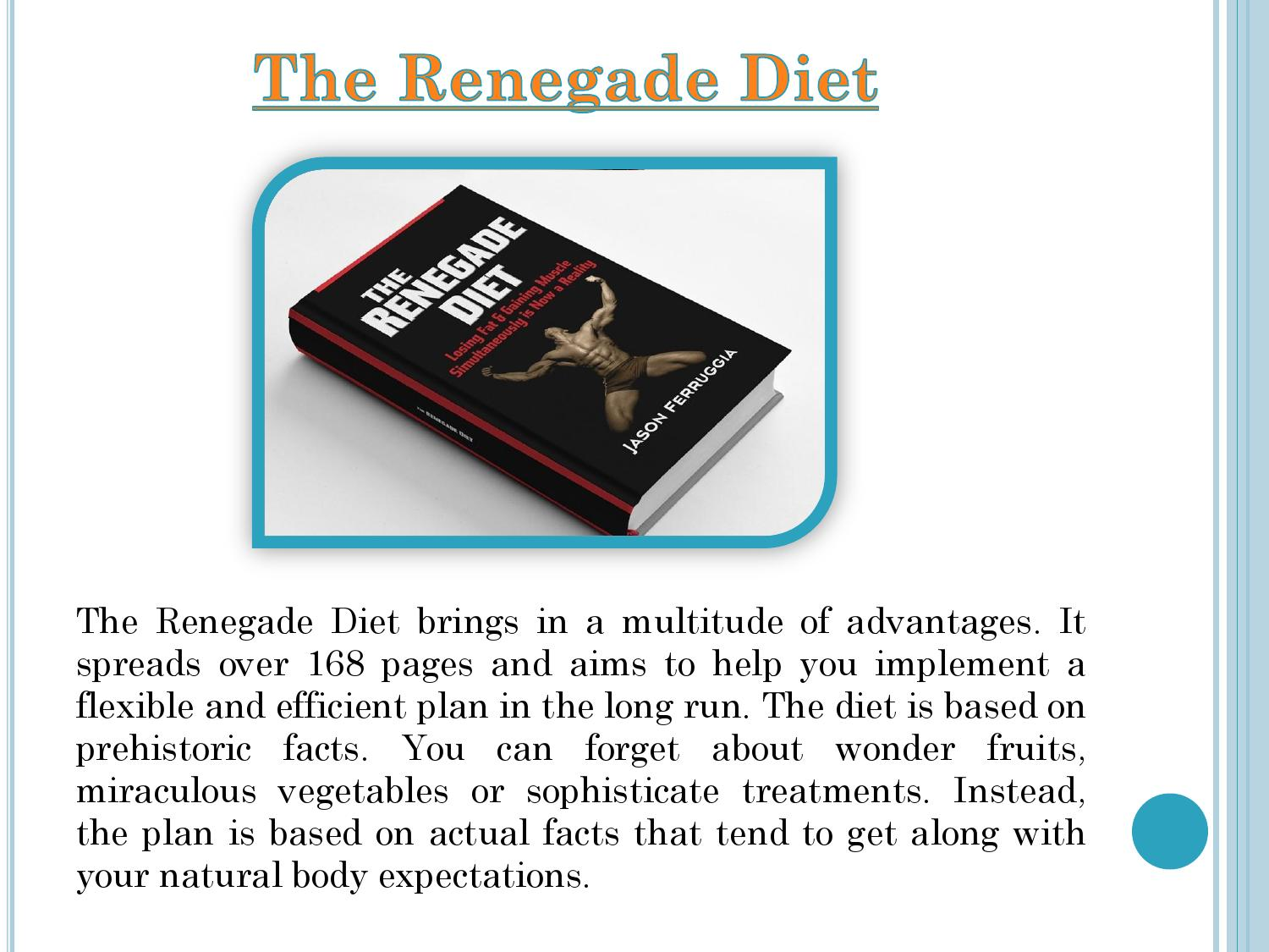 Renegade Diet Book This Diet Book incredibly Worth to Buy