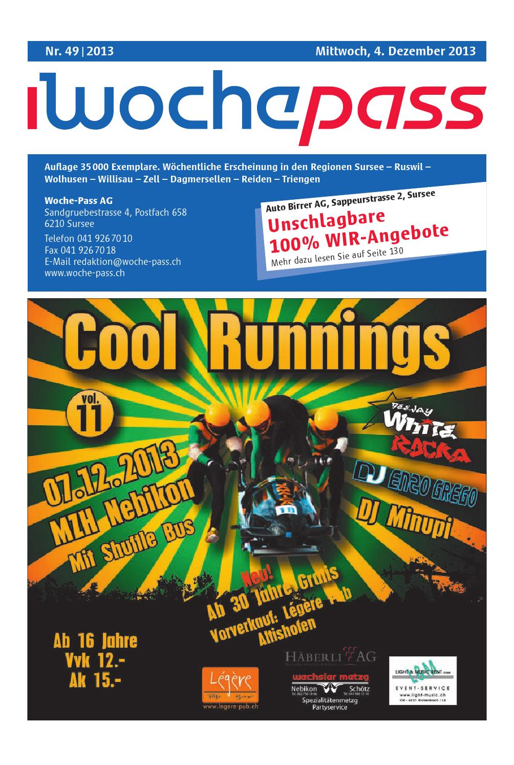Woche Pass Kw49 4 Dezember 2013 By Woche Pass Ag Issuu