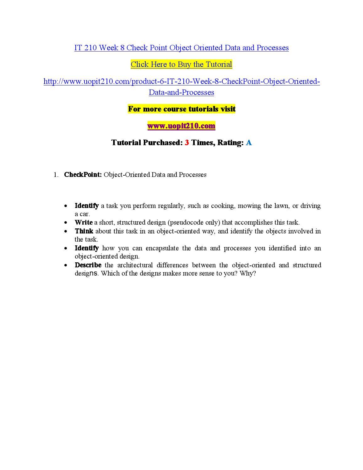 IT 210 Read, Lead, Succeed/Uophelpdotcom
