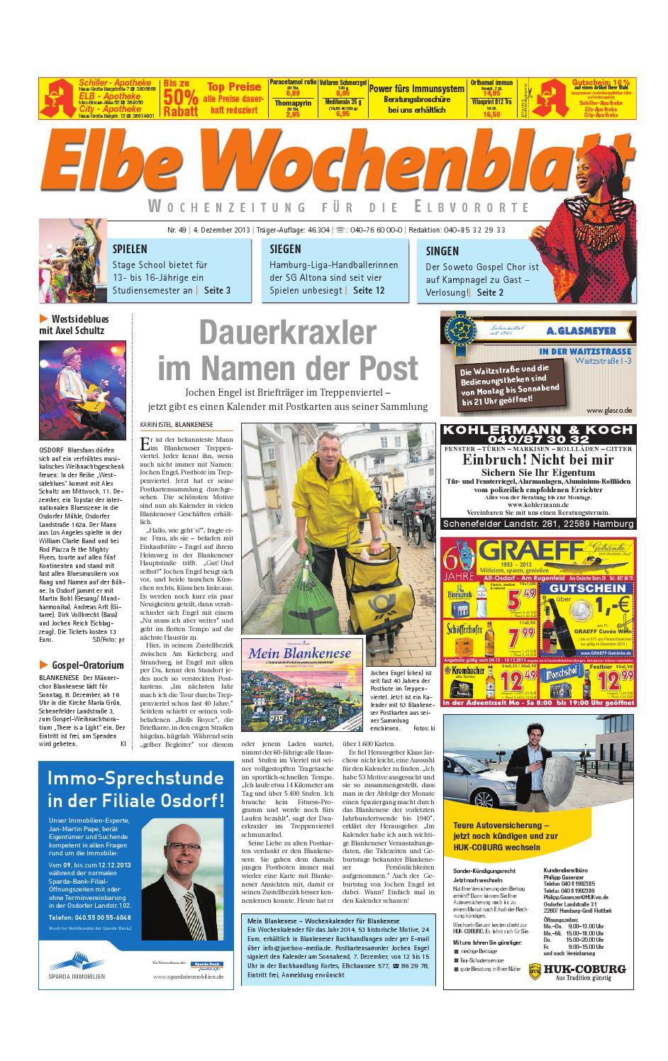 Elbvororte KW49-2013 by Elbe Wochenblatt Verlagsgesellschaft mbH & Co.KG -  issuu