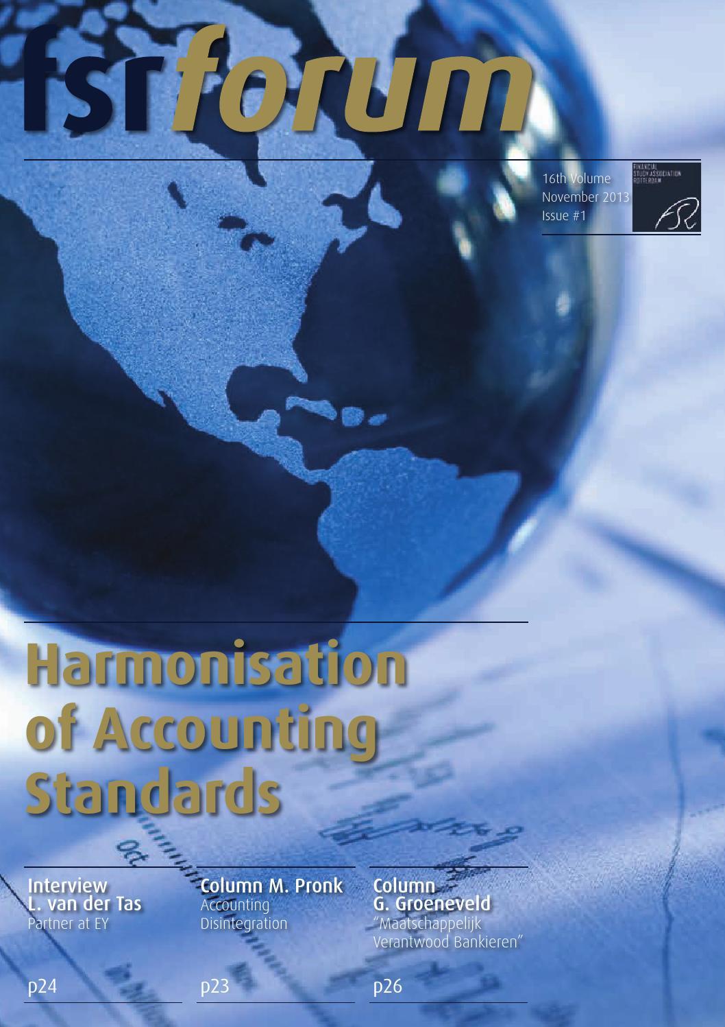 Fsr forum 16-01 Harmonisation of Accounting Standards by Eefke van