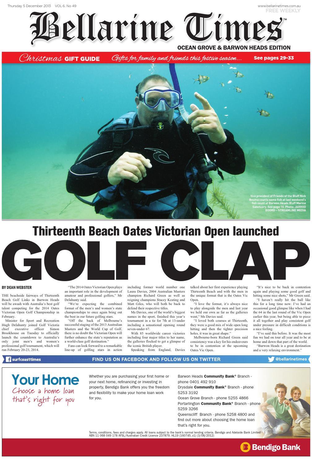 397a8ecd16ae Bellarine Times Ocean Grove: December 5, 2013 by Surf Coast News Australia  Pty Ltd - issuu