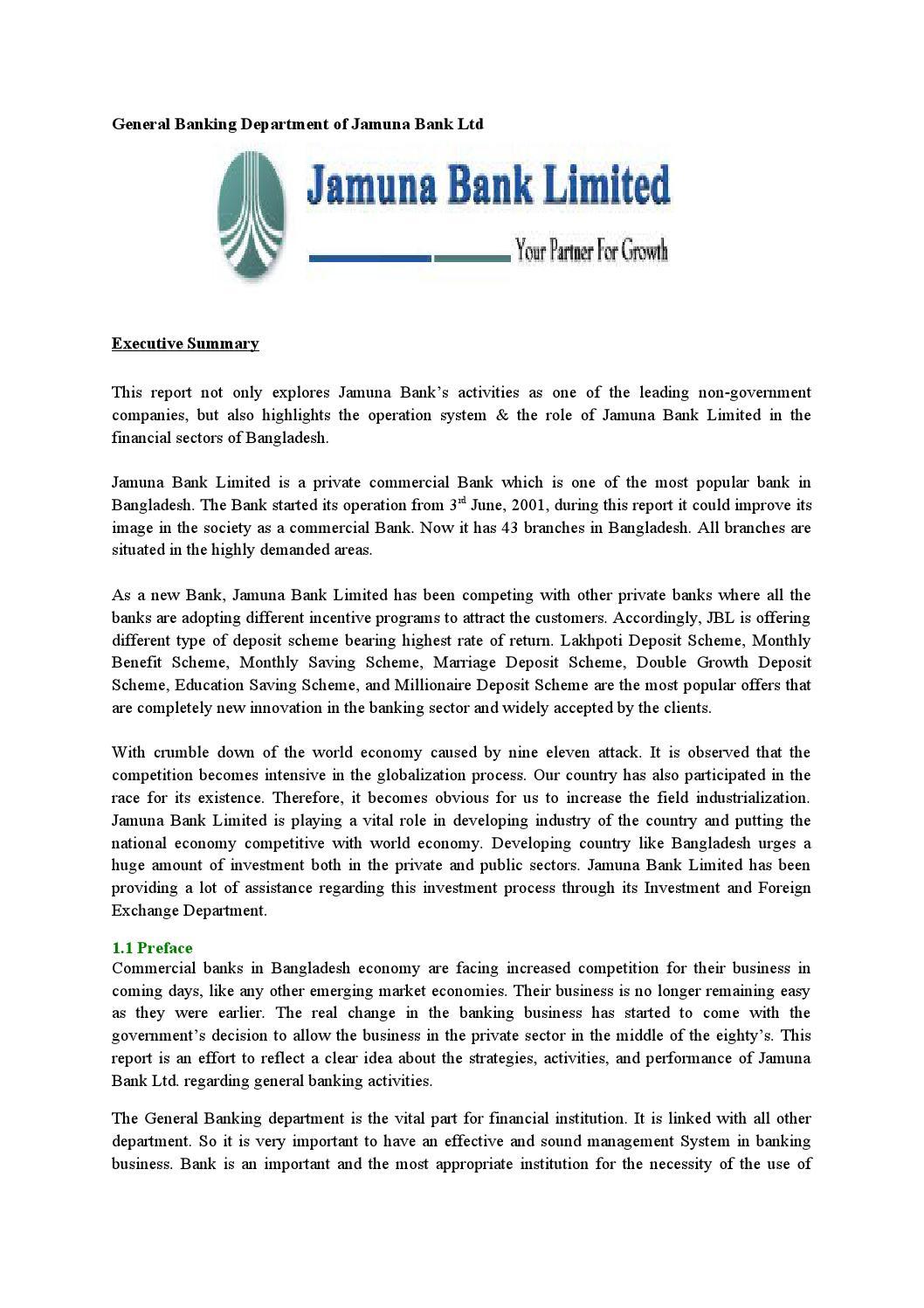 general activities of jamuna bank ltd Md tanveer haider sohaib executive officer at jamuna bank ltd  md tanveer haider sohaib's activity  all kinds of general banking activities in the bank.