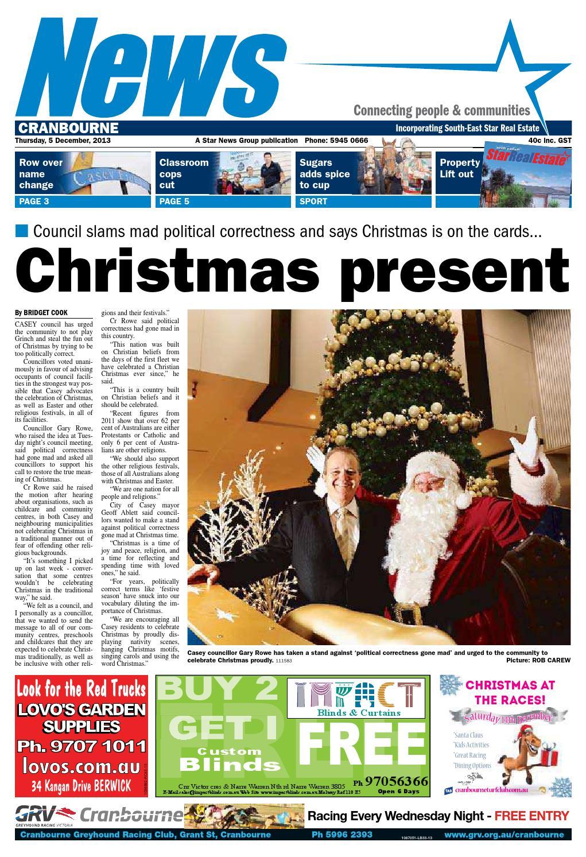 News - Cranbourne - 05th December 2013 by Star News Group