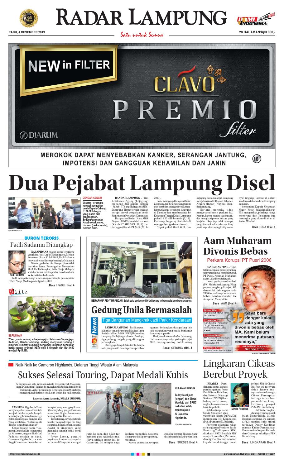 Radar Lampung Rabu 4 Desember 2013 By Ayep Kancee Issuu Produk Ukm Bumn Tas Ransel Threepoint
