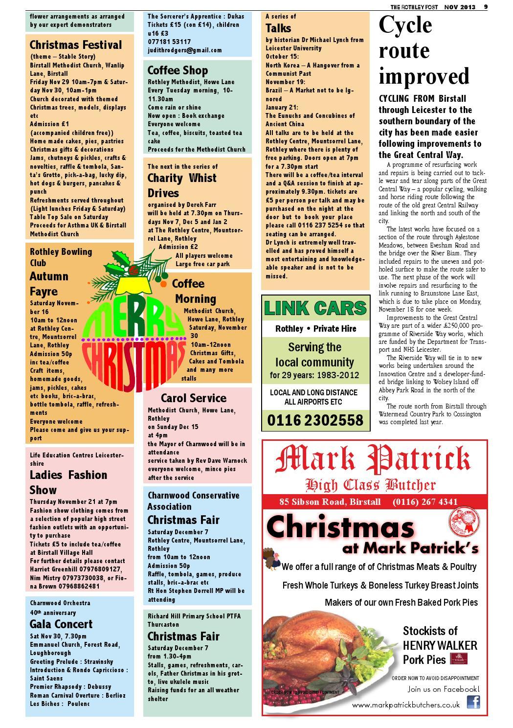 Rothley Post 103 Nov 2013 By The Birstall Post Issuu