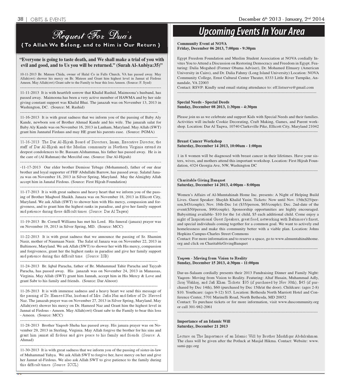 The Muslim Link - December 6, 2013 by The Muslim Link - issuu