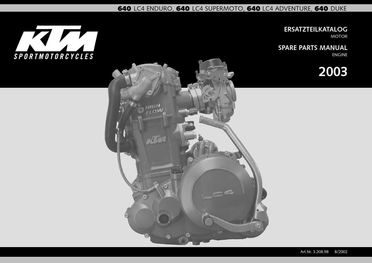 Kupplungsdeckel Dichtung KTM Duke II 640 E NEU