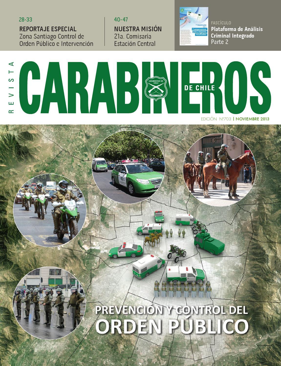 Edic 703 Noviembre 2013 By Carabineros De Chile Carabineros De  # Muebles Loa Sur Ancud