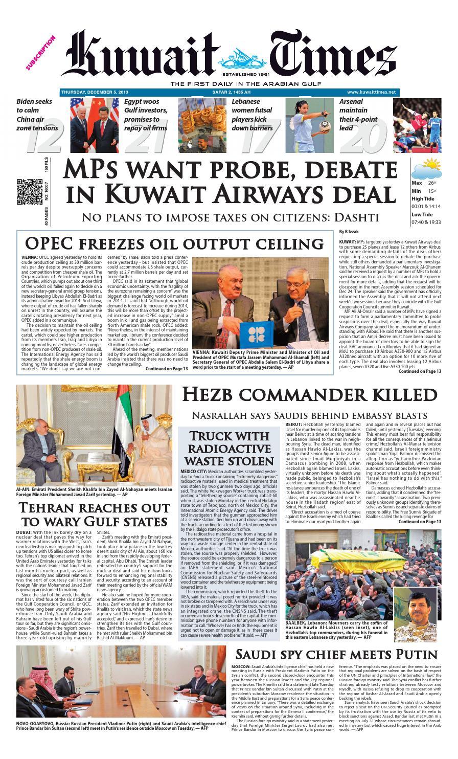 5th Dec By Kuwait Times Issuu