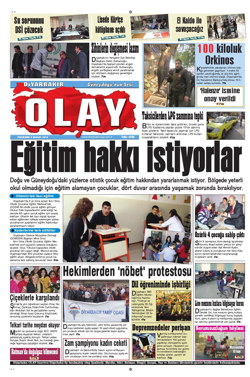05 2013 Gazete Sayfalari By Diyarbakir Olaygazetesi Issuu