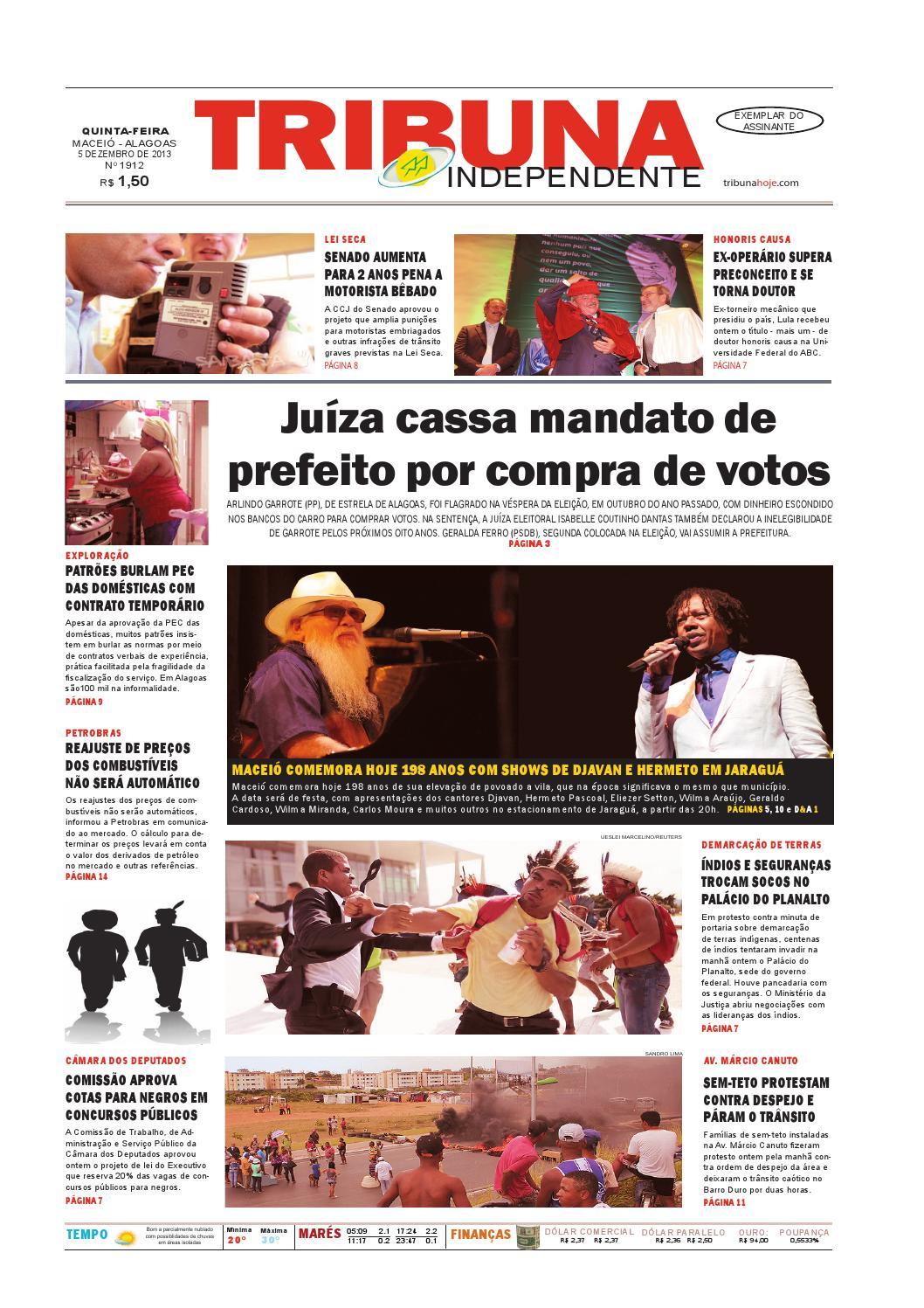 5a539785651 Edição número 1913 - 5 de dezembro de 2013 by Tribuna Hoje - issuu